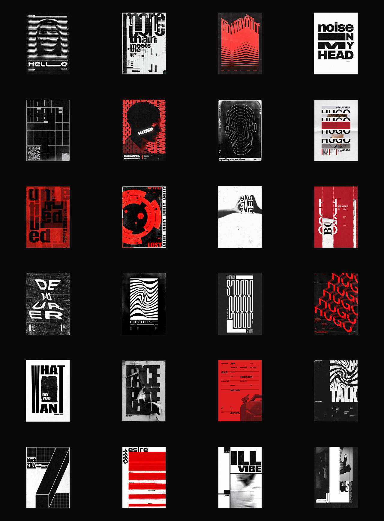 Poster designs by Roman Post.