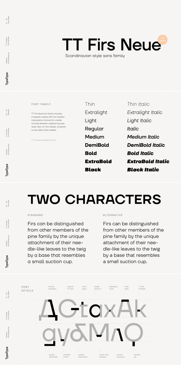 TT Firs Neue font family by TypeType