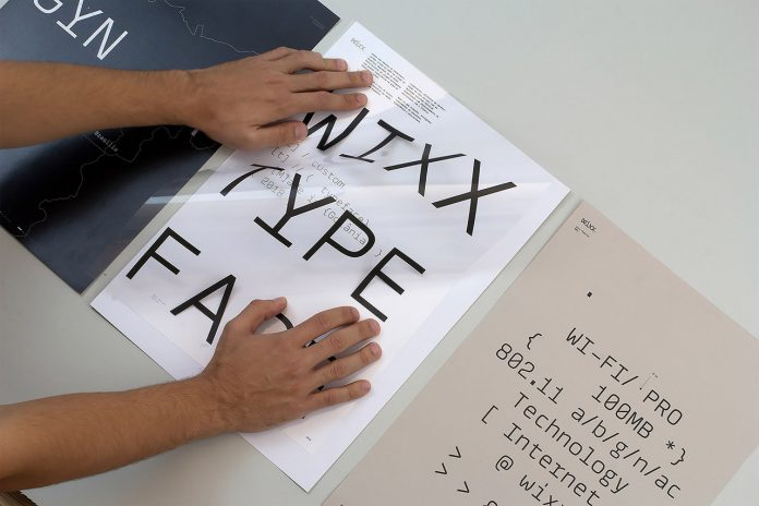 Wixx Mono - custom typeface design by graphic design studio BR/BAUEN.