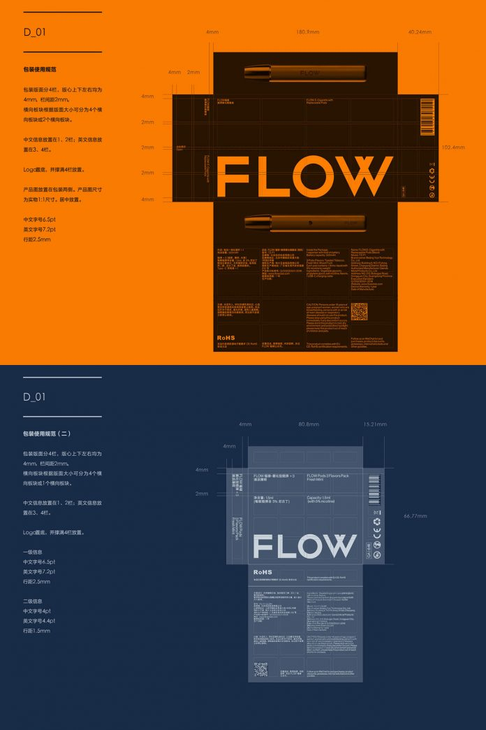 FLOW brand identity by A Black Cover Design Inc.