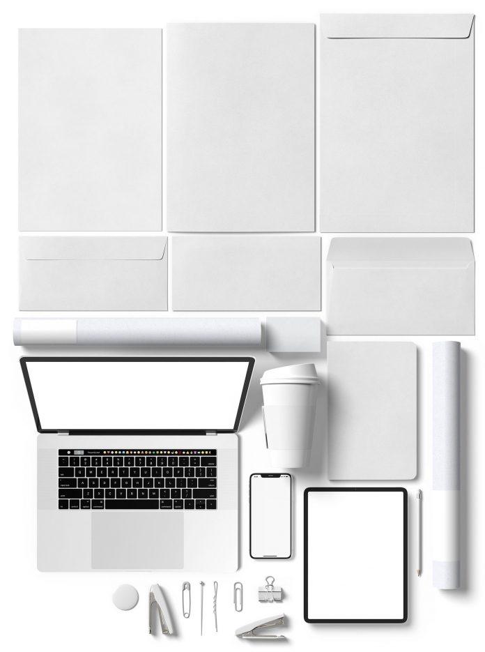 A minimalist stationery mockup creator by Momogi.