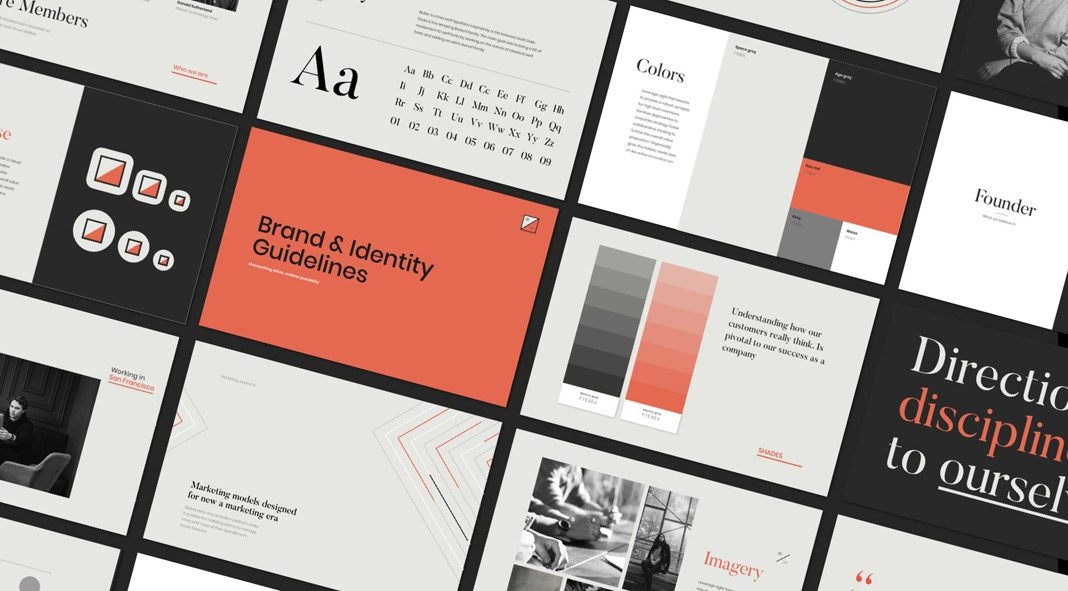 Branding Guidelines Template for Adobe Photoshop, Illustrator, and Sketch.