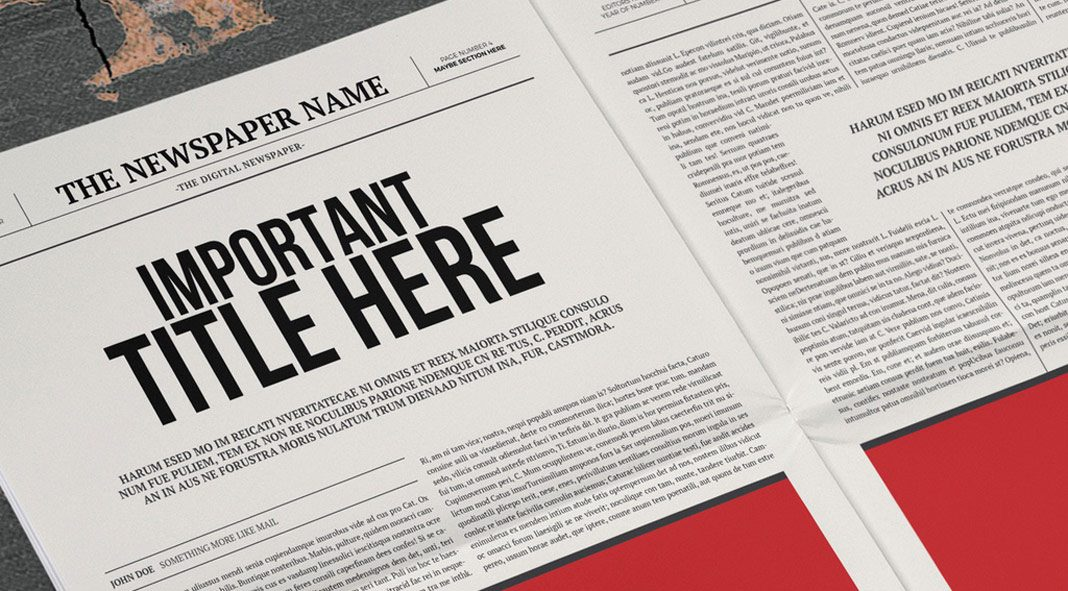 Classy Newspaper Template for Adobe InDesign.