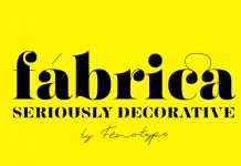 Fabrica display font by Fenotype.