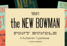 New Bowman Fonts Bundle