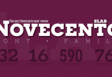 Novecento Slab Font Family by type foundry Synthview.