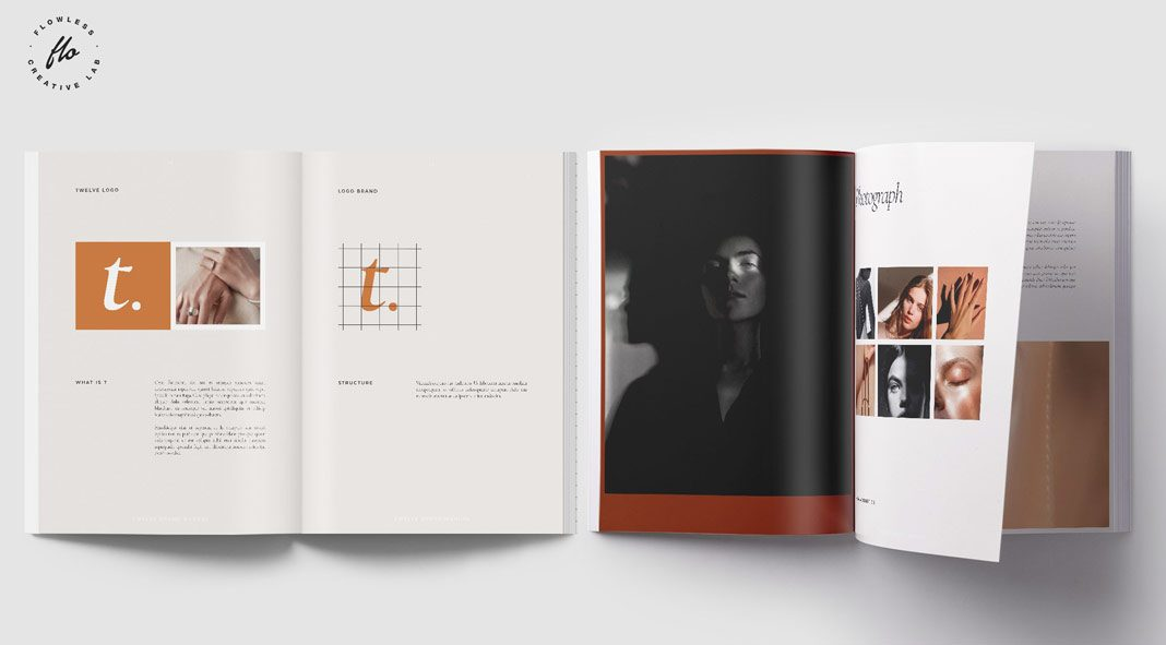 TWELVE Brand Manual Guidelines for Adobe InDesign.