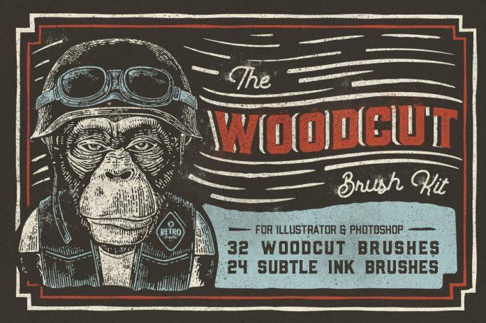 The Woodcut Brush Kit Illustrator