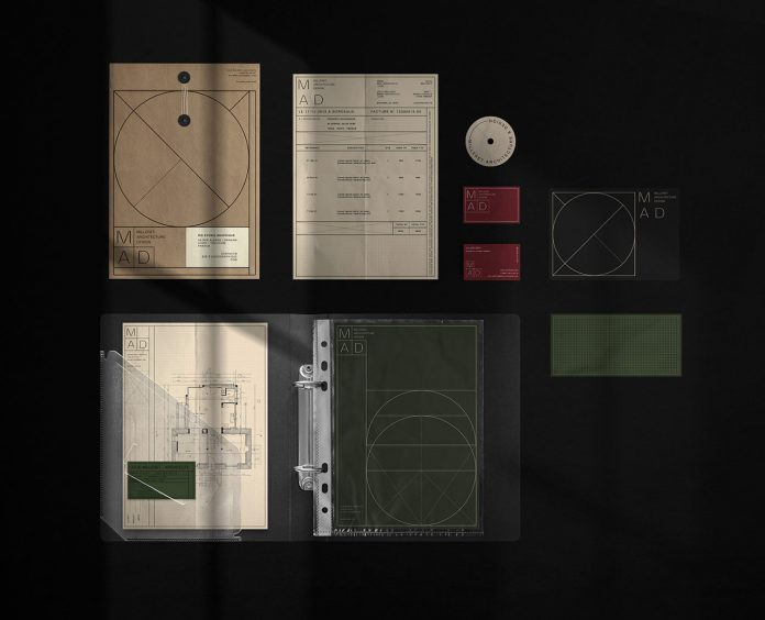 Graphic Design & Branding by BIS Studio Graphique for MAD (Milleret Architecture Design)