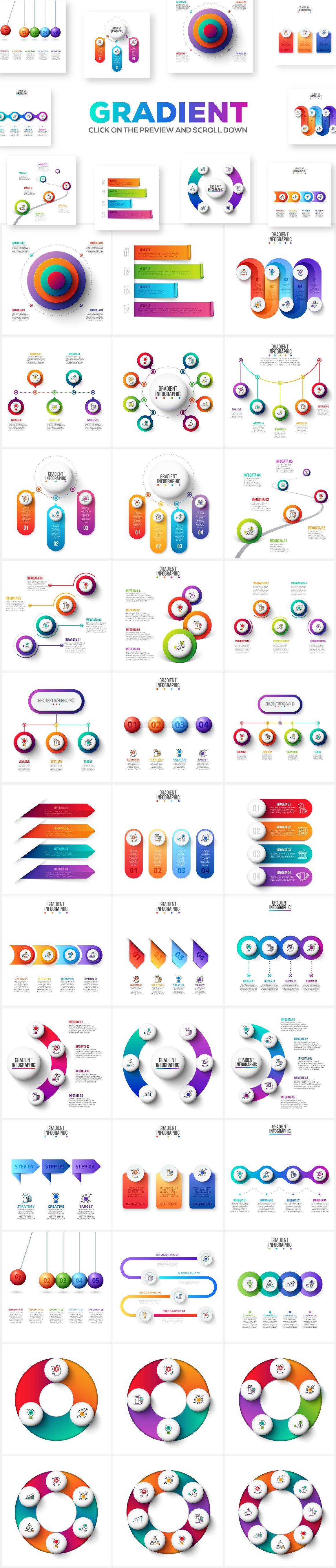 Gradient Infographics