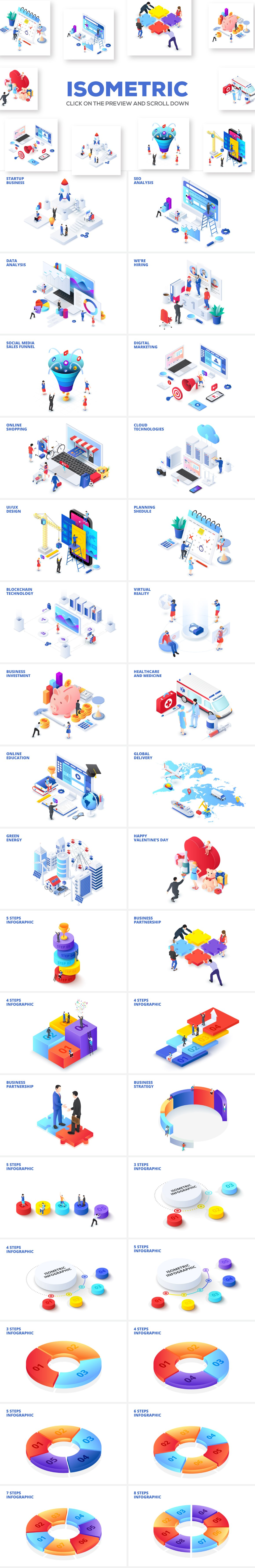Isometric Infographics