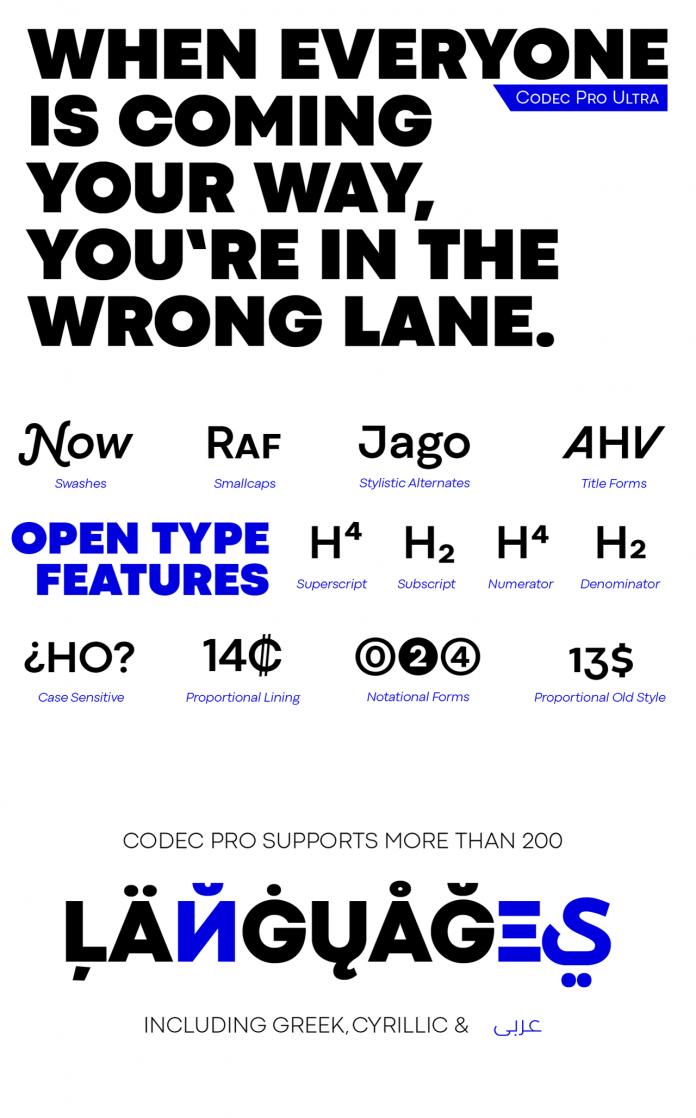Codec Pro font family by Zetafonts.