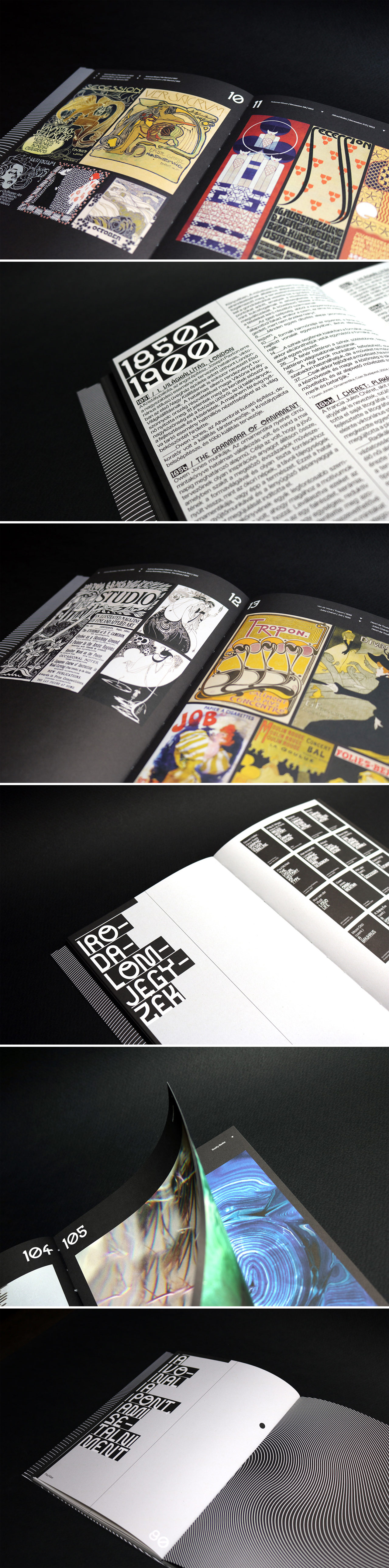 Graphic Design Timeline with design and text by Dora Balla.