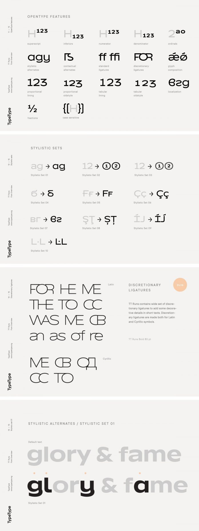 TT Runs font family from foundry TypeType.