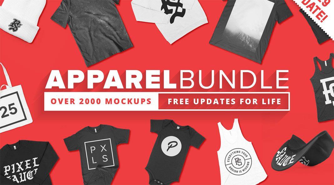 2000+ Apparel Mockups Bundle