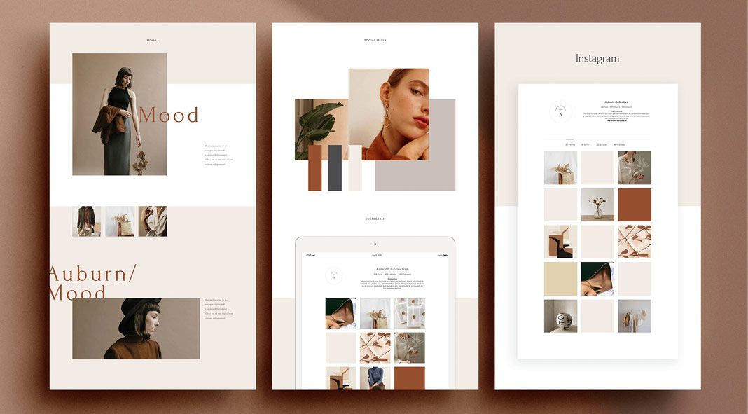24 Adobe InDesign brand sheets template based on modern and minimalist graphic design.