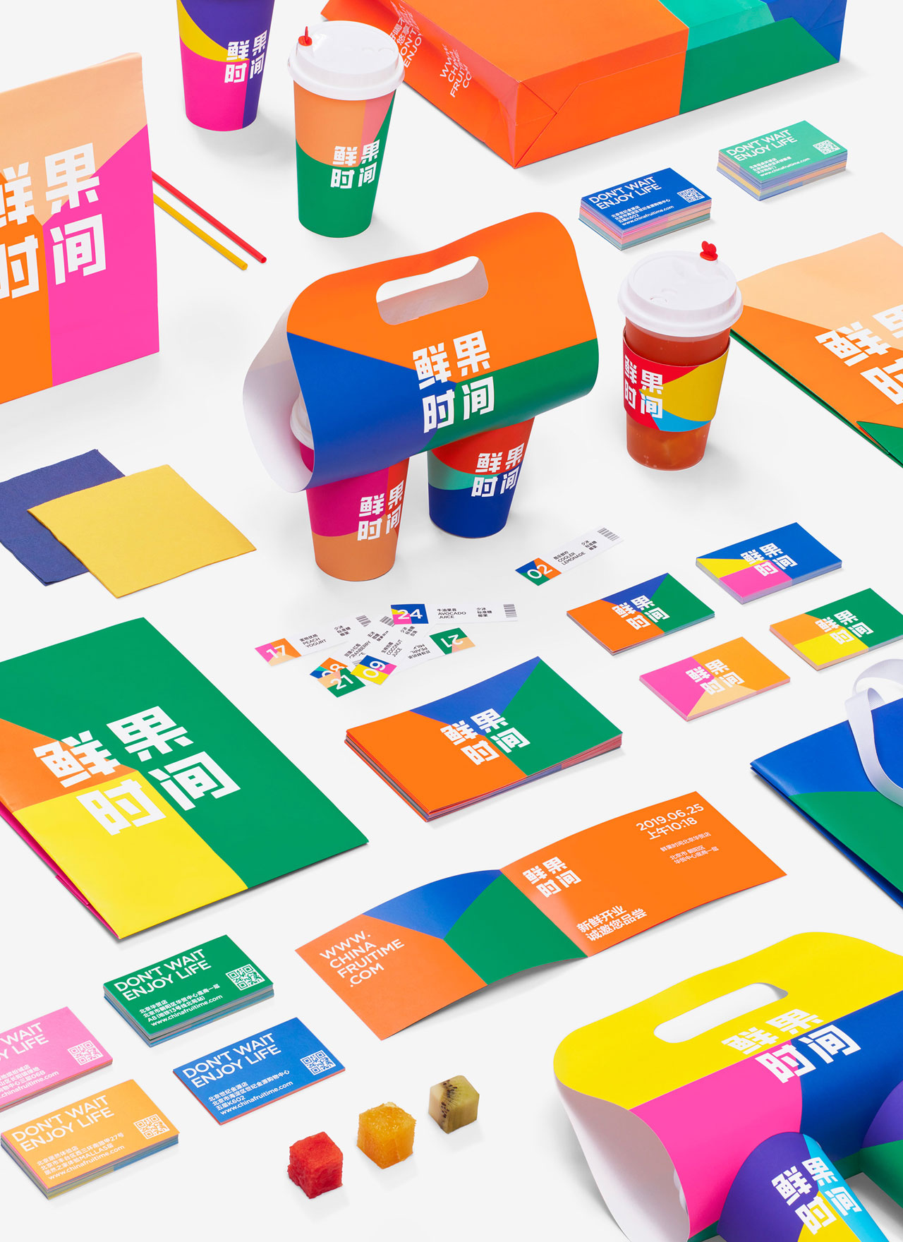 Graphic design, branding, and packaging by Nod Young for It's Time To.