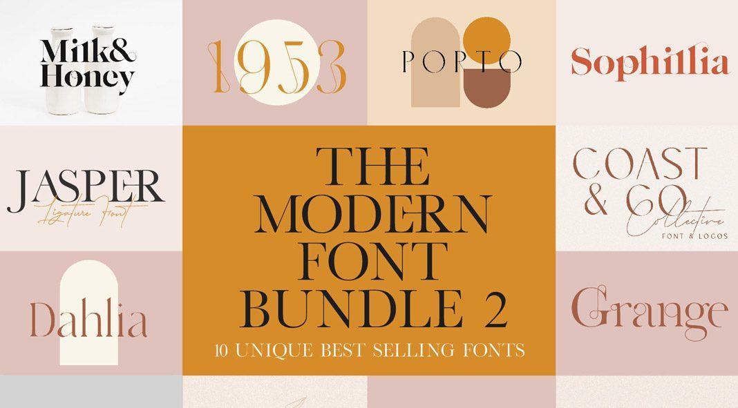 A Modern Vintage Font Bundle by New Tropical Design