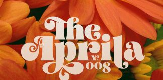 Aprila Font Family, a typeface inspired by the 1960s Hippies Movement.