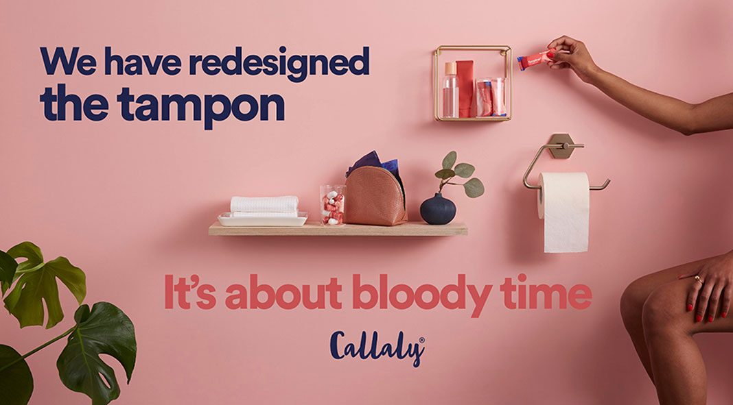 Brand redesign by Design Bridge for the femcare products of Callaly.
