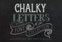 Chalky Letters font collection.