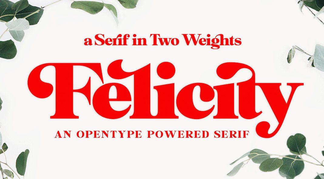 Felicity serif font from Fenotype.