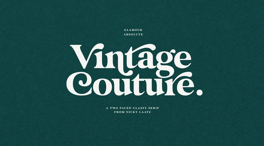 Glamour Absolute, an elegant vintage font by Nicky Laatz.
