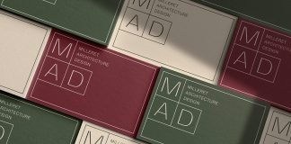 Graphic design and branding by BIS Studio Graphique for MAD (Milleret Architecture Design).