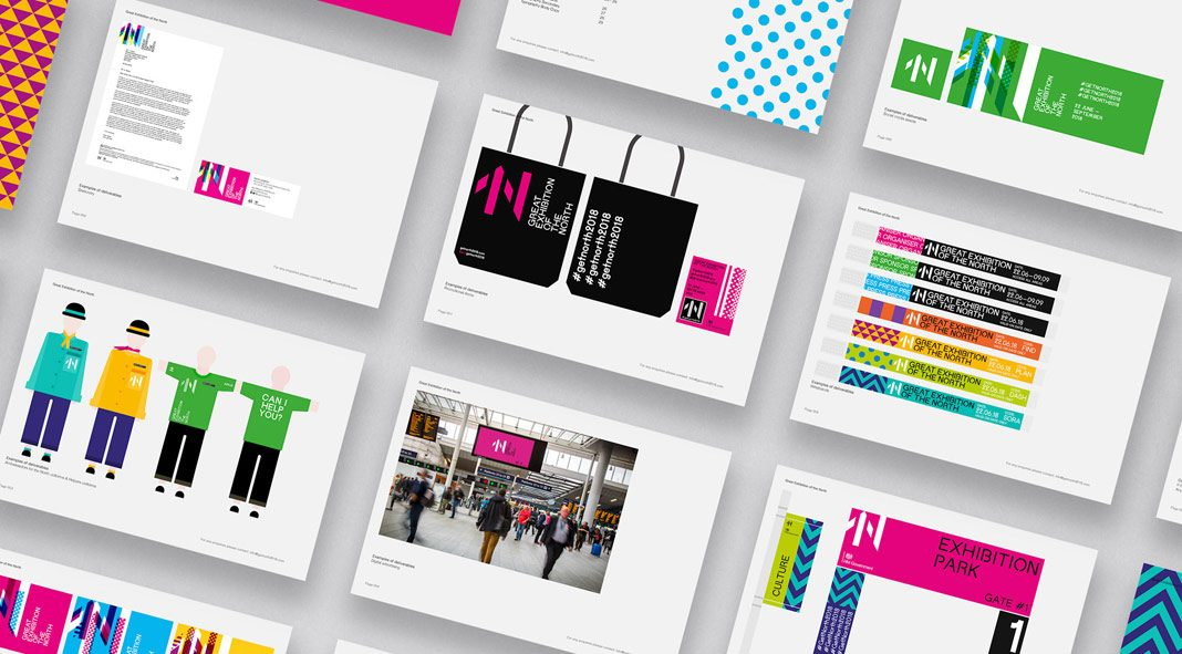 Great Exhibition of the North — Branding by Studio. Bold
