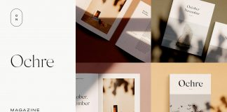 Ochre – Magazine Mockups for Adobe Photoshop