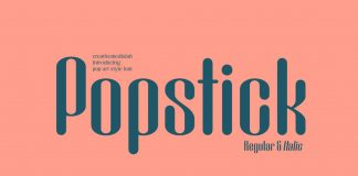 Popstick Font from Creative Media Lab.