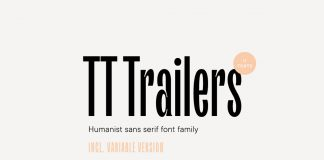 TT Trailers font family by TypeType