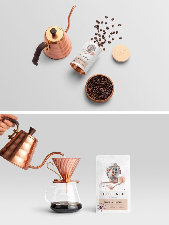 Blend – Coffeehouse Branding Mockup for Adobe Photoshop.