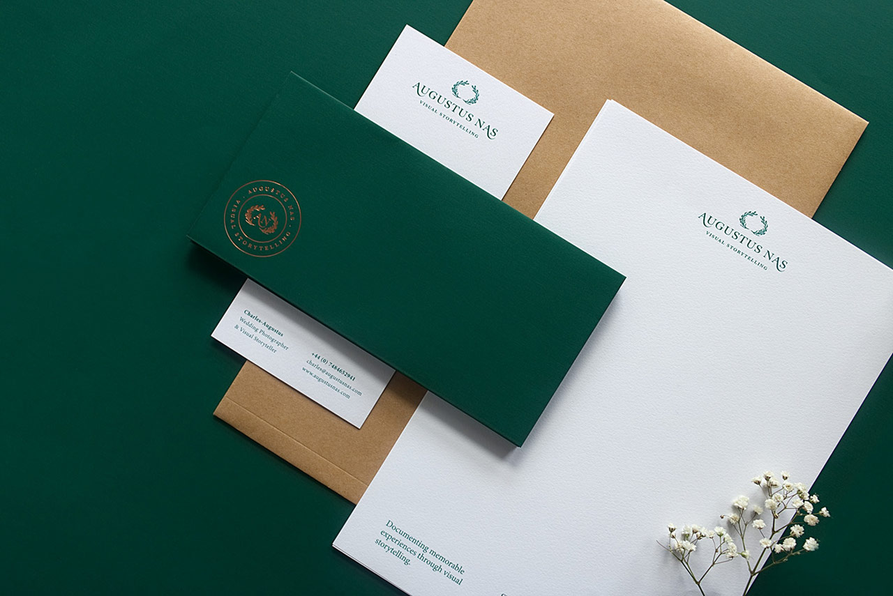 Branding by Magenda Alieu for Augustus Nas – Wedding Photography