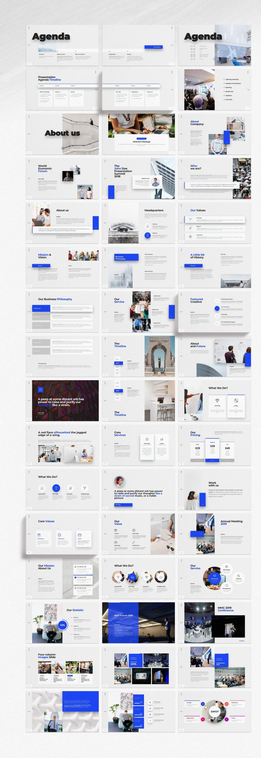 Voodoo Presentation Templates for Powerpoint, Keynote, and Google Slides.