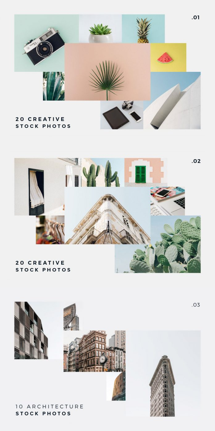 55 amazing presentation templates for PowerPoint, Keynote, and Google Slides plus more than 80 stock images, mockups, and free updates.