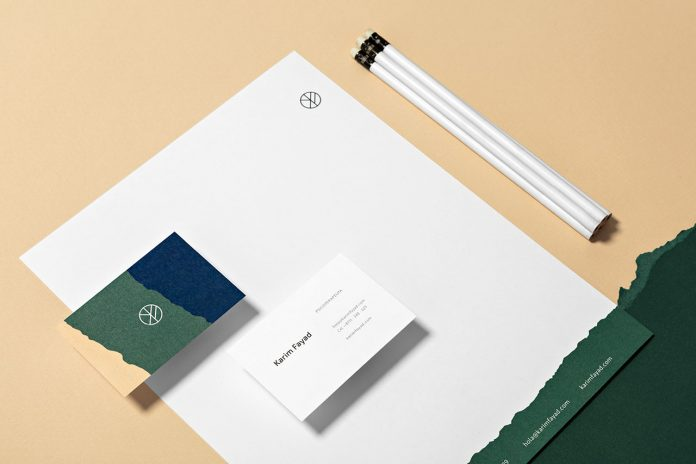Karim Fayad branding by graphic design studio 'the branding people'.