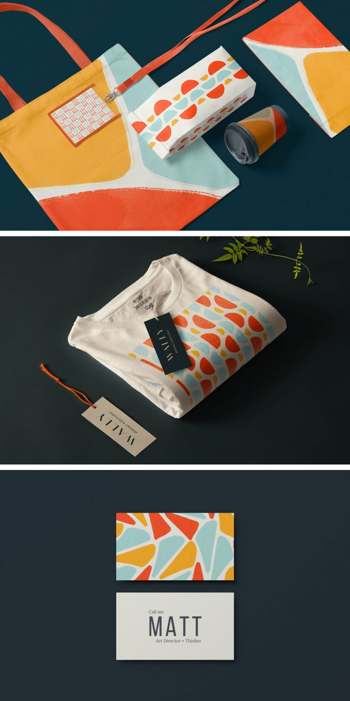 WAVA: bold, abstract, ready-to-use watercolor shapes by Delightful Design.