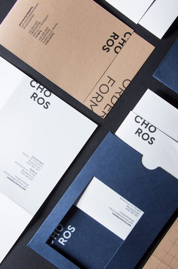 Art direction, graphic design, and branding by Blind Studio for Choros by Tiritidis.