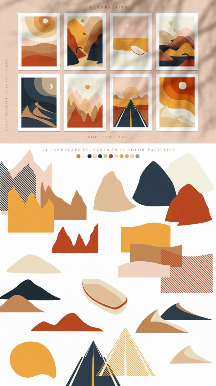 Grand Abstract: Modern Geometric Vector Graphic Design Set