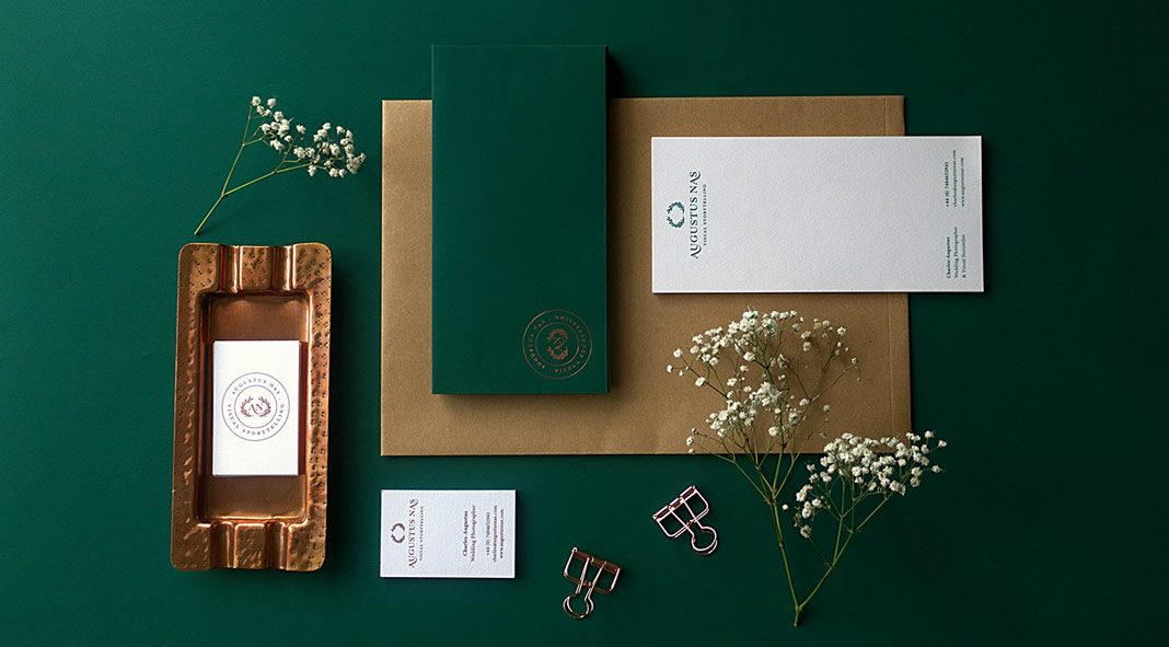 Branding and stationery design by Magenda Alieu for Augustus Nas - Wedding Photography.