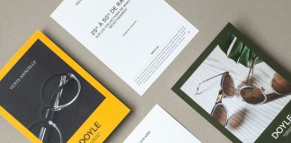 Doyle—optician branding by Vanessa Pepin and Les Garçons.
