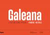 Galeana font family from Latinotype.