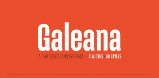 Galeana font family from Latinotype.