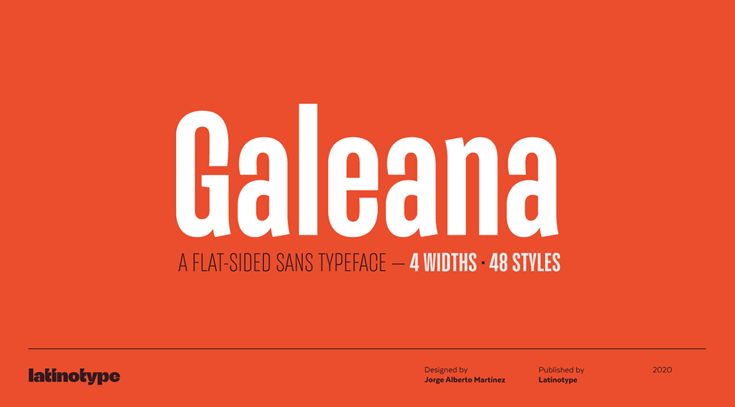 Galeana Font Family from Latinotype