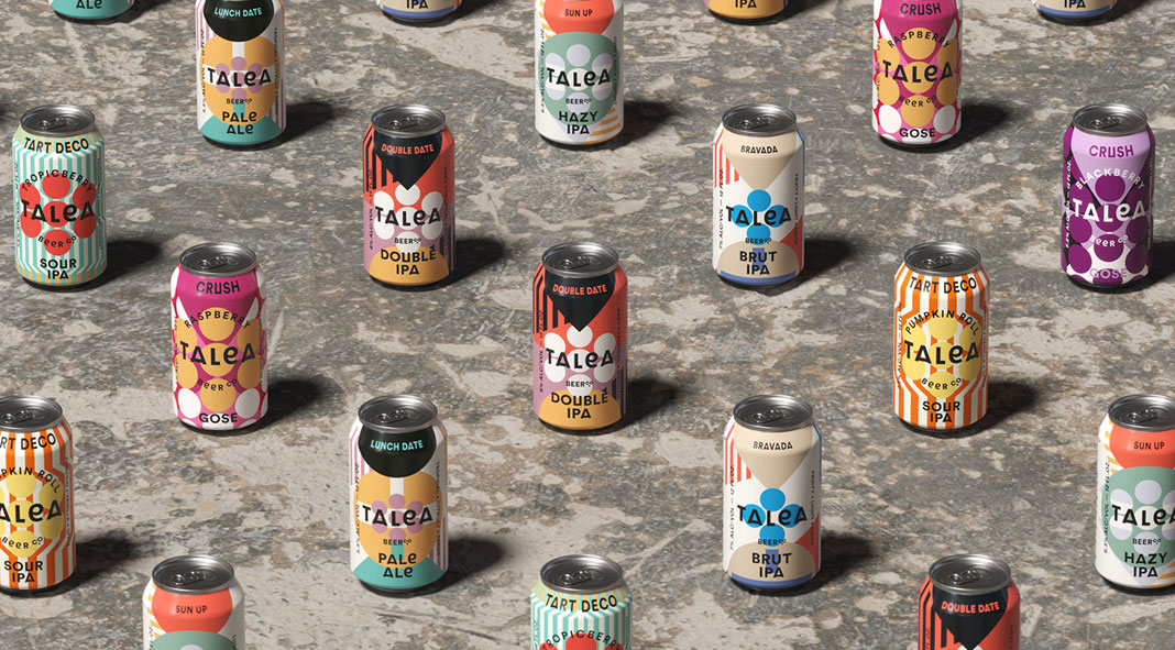 Graphic Design and Packaging by IWANT Design for TALEA Beer Co.