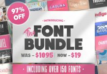 HUGE Font Bundle (162 Fonts) from Salt & Pepper Designs.