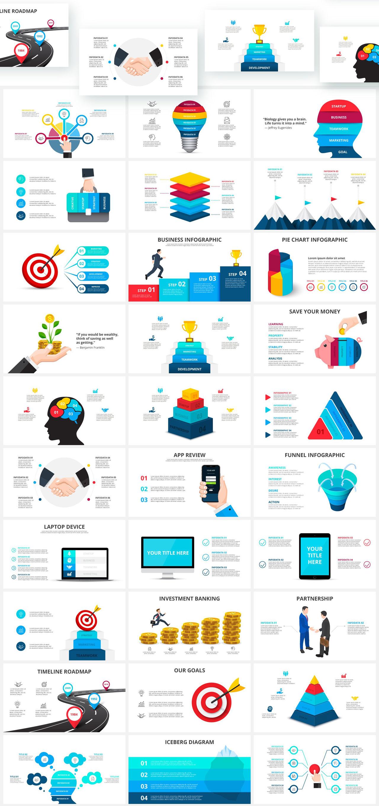 1000 Infographics Templates Presentations