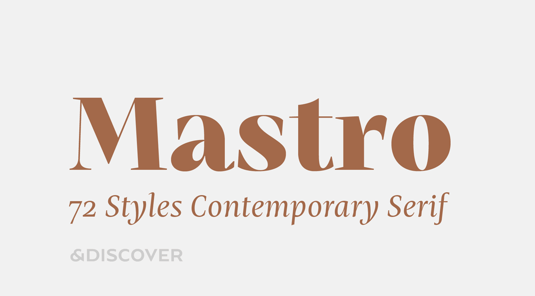 Mastro font family by Ndiscover.