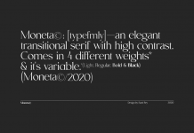 Moneta font family by Santi Rey.